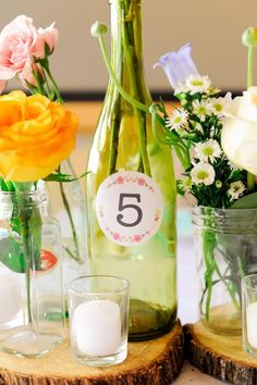 Easy table numbers.