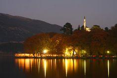 Photo of Aslan Pasha Mosque at dusk