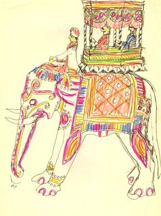 Design for folk craft from India