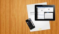 eXo Mobile apps on a wood background - www.exoplatform.com