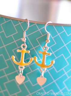 Anchor Earrings! Perfect for Summer!