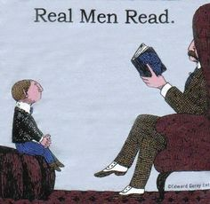 It's so important for boys who are becoming readers to see men reading!