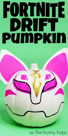 Are you a Fortnite fan? You'll love making this Fortnite Drift Pumpkin for Halloween! Hop over to As The Bunny Hops to get the easy details on this DIY no-carve pumpkin craft!