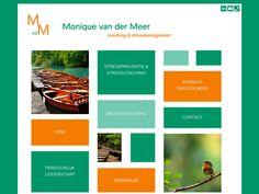Monique van der Meer - Bouw een kleurrijke website voor mijn praktijk. Ze schreef zelf de teksten en nam les bij ons om hem zelf bij te houden