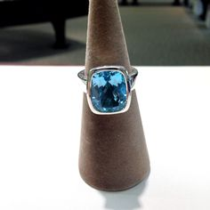 Sterling silver blue topaz ring #blue #ring #jewelry #sterling #silver