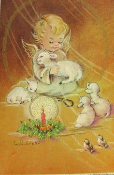 Angel & Lambs  http://www.ecoglobalsociety.com/christmas-cards-and-nature/
