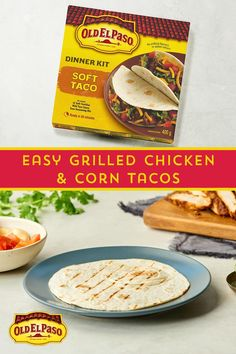 This how-to video will inspire you to make tonight taco night. Every bite is more delicious than the last! Quesadillas, Grilled Chicken Tacos, Salsa Chicken, Tacos And Burritos, Soft Tacos, Wrap Recipes, Banana Bread Recipes, Mexican Food Recipes, Food Videos