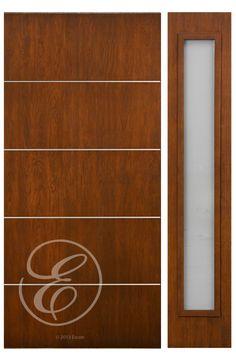New Modern Walnut door Aluminum Inlaid Strips [W650AL]