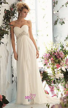 Stock Chiffon Beaded Bridesmaid Dress Party Formal Evening Prom Dress Ball Gown