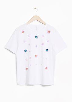 & Other Stories | Iridescent Flower T-shirt