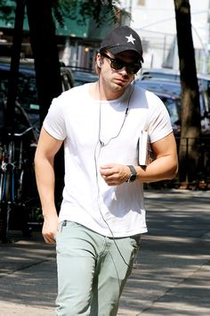 """delevingned: """" Sebastian Stan out in NYC """""""