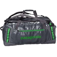 Patagonia Black Hole Duffel (60L, 90L, 120L) - The Black Hole Duffle bag is a burly, simple travel bag with a u-shaped easy opening system and masses of space to pack your gear. http://www.urbanrock.com/black-hole-duffle