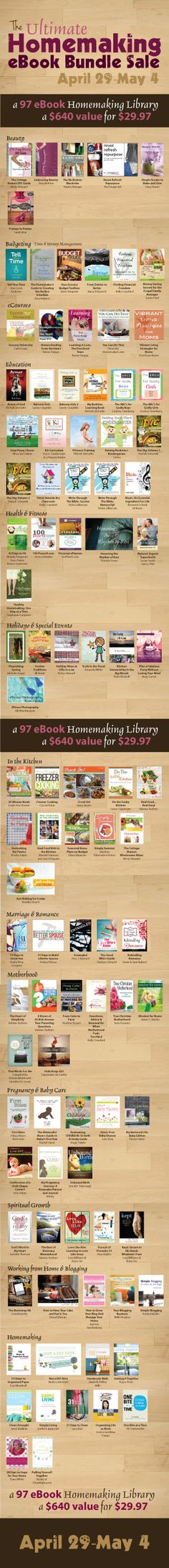 The Ultimate Homemaking eBook Bundle -- $29.97 for over $640 worth of eBooks!!