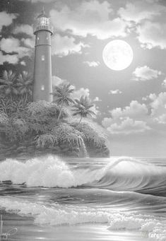 Lighthouse Coloring Pages for Adults | Island Coloring Pages ...