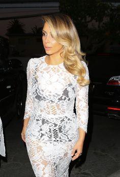 Kim Kardashian in sheer lace