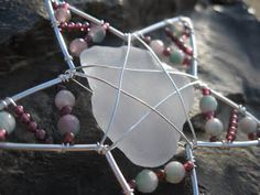 Star Ornament with Hawaiian Sea Glass and by PersnicketyPuffin