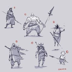 Some random character thumbnails #conceptart