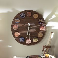 CROM RELOJ MADERA TECNICOLOR Wall, Ideas Para, Clocks, Home Decor, Tree Hut Watches, Country, Homemade Home Decor, Decoration Home, Walls