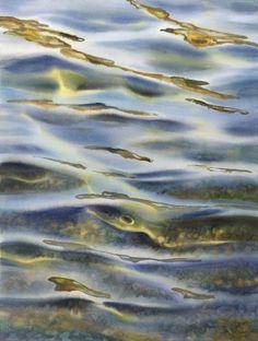 Watercolor Water, Watercolor Landscape, Landscape Art, Watercolor Paintings, Watercolours, Watercolor Techniques, Painting Techniques, Johannes Itten, Water Aesthetic