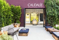 Caudalie Boutique + Spa I Venice, CA   Laure Joliet Photography   Wire Chair on H base