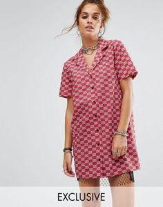Reclaimed Vintage Inspired Short Sleeve Boxy Shirt Dress