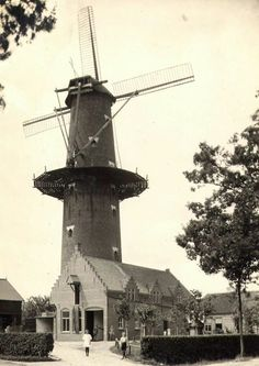 De molen aan de Liesboslaan, jaartal onbekend