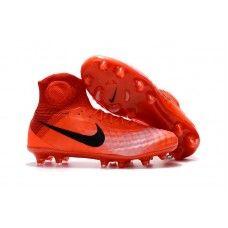 new product 90f1b 90d86 Nike Womens Magista Obra II FG Soccer Cleats - Orange Black White Shop USA