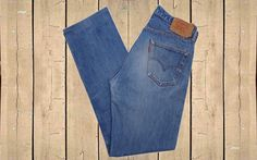 Vintage Levis 501 Mens Jeans USA Made 1990s Stonewash Blue W35 L33 by BlackcatsvintageUK on Etsy