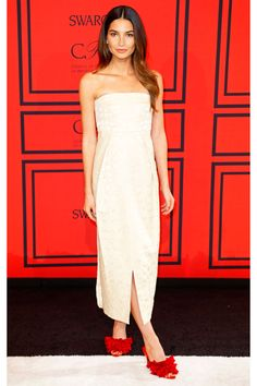 Lily Aldridge in The Row, at the 2013 CFDA Awards