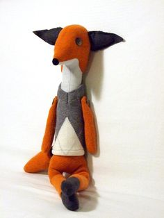 ON SALE 30% Soft Toys Stuffed Fox Plush Toys Animal by isCraFT