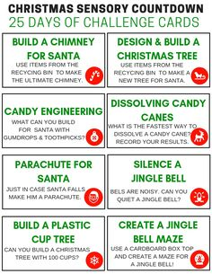 Looking for the perfect kid's Christmas advent calendar idea, take a look at our Christmas STEM Challenge cards countdown calendar and free printable cards! Christmas Challenge, 25 Days Of Christmas, Preschool Christmas, Christmas Ideas, Christmas Activities, Stem Activities, Christmas Games, Christmas Countdown, Kindergarten Stem
