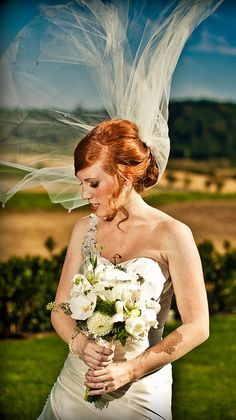 love the wind blowing the veil. #wedding