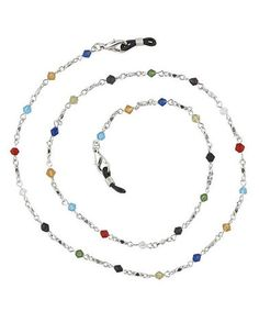 This Multi-Colored Gem Boutique Eyeglass Chain Necklace by I Heart Eyewear is perfect! #zulilyfinds