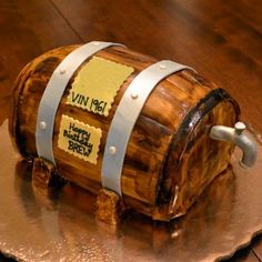 "Mikes Cake idea, Hollow out enough for favorite bottle of  beer to fit with just a bit of the neck and cap sticking out for ""spout"".  When serving, before cutting, pop open beer.  I'm thinking a chocolate, coffee, or oatmeal stout. Something to pair well with cake."