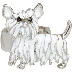Heirloom Finds Adorable White Enamel Westie Dog Ring Heirloom Finds. $16.99. This adorable westie dog ring is a pure delight!. Great gift for the dog lover!. Ring stretches to fit sizes 7 to 9. A conversation piece for everyday wear!. Makes a Great Gift. Arrives Gift Boxed!. Save 51%! Westie Dog, Westies, White Enamel, Cute Dogs, Conversation, Stretches, Dog Lovers, Jewelry Rings, Great Gifts