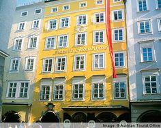 Mozart's birth house  Salzburg, Austria