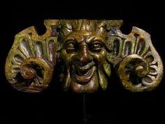 Abacus из столицы с сатира в резной орех.  Северная Италия.  17-го C.
