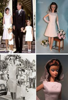 Jacqueline Kennedy easter dress for Silkstone Barbie. by arina_fashions, via Flickr