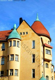 Jugend style house in Helsinki, Finland