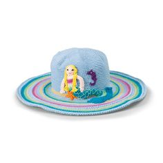 Girls Mermaid Hat - protect you girlie girl from the sun in style $32