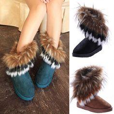 Livraison gratuite 2013 automne et en hiver la neige bottes de fourrure de renard plumes. plat.- fond courtes en coton- rembourrée chaussures bottes d'hiver # l035568