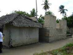 These are houses in Africa.
