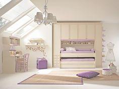 Camerette Arcadia |  Armadio per bambini finitura Magnolia e Glicine | Colombini