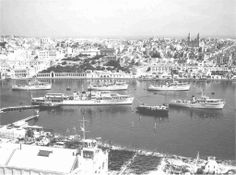 Sliema Creek 1959 - HMS Woodbridge Haven can be seen with the mine-sweeping squadron