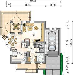 DOM.PL™ - Projekt domu Mój Dom Bratek CE - DOM BM6-33 - gotowy koszt budowy Design Case, House Plans, Portal, Sweet Home, Floor Plans, How To Plan, House Styles, Studio, Home Decor