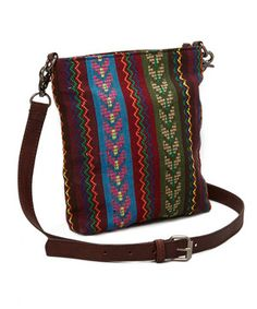 Another great find on #zulily! Brown & Blue & Green Tribal Crossbody by I Love Accessories #zulilyfinds