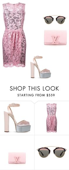 """""""Baby pink"""" by mireille-a ❤ liked on Polyvore featuring Giuseppe Zanotti, Dolce&Gabbana, Louis Vuitton and Christian Dior"""