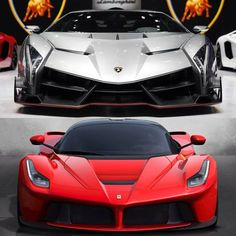 "Veneno vs LaFerrari. Top or bottom? Which one folks? "" I will take the top one, Please amd thank you"""