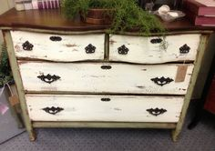 2 toned beauty of a chest of drawers / dresser