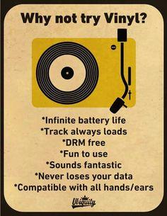 Why not try vinyl?